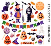 halloween decoration and design ... | Shutterstock .eps vector #1820277635