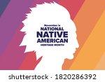 november is national native...   Shutterstock .eps vector #1820286392