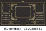 set of art deco gold... | Shutterstock .eps vector #1820305952