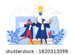 graduate people celebrate... | Shutterstock .eps vector #1820313098