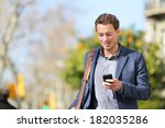 young urban businessman... | Shutterstock . vector #182035286