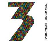 number three vector... | Shutterstock .eps vector #1820355032