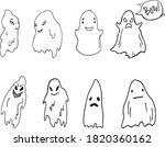 set of ghosts for halloween... | Shutterstock .eps vector #1820360162
