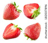 strawberry. collection isolated ... | Shutterstock . vector #182037896