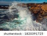 Waves Crashing At Monterey Bay...