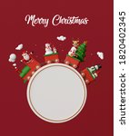 merry christmas and happy new... | Shutterstock . vector #1820402345