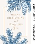 new year invitation with... | Shutterstock .eps vector #1820402855
