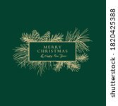 Christmas Abstract Card With...