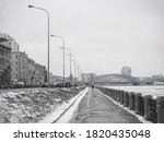 Empty Winter Embankment In...