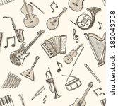 vector seamless pattern of... | Shutterstock .eps vector #182043758