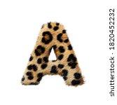 Leopard Fur Texture Uppercase...