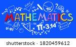mathematics. horizontal banner. ... | Shutterstock .eps vector #1820459612