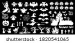 set of silhouettes of halloween ... | Shutterstock .eps vector #1820541065