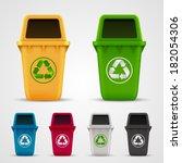 ecological trash set. trash... | Shutterstock .eps vector #182054306