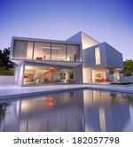 external view of a contemporary ... | Shutterstock . vector #182057798