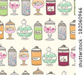 vector seamless pattern with ... | Shutterstock .eps vector #182060966