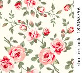 wallpaper with roses   Shutterstock .eps vector #182068796