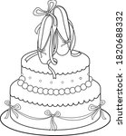 birthday cake decorated with... | Shutterstock .eps vector #1820688332