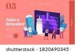pulmonology  asthma disease... | Shutterstock .eps vector #1820690345