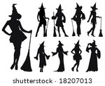 Silhouettes Of Sexy Witches....