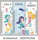 kids height chart. vector...   Shutterstock .eps vector #1820701568