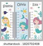 kids height chart. vector...   Shutterstock .eps vector #1820702408