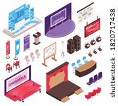 isometric conference hall stage ... | Shutterstock .eps vector #1820717438