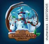 christmas characters in frozen... | Shutterstock .eps vector #1820720435