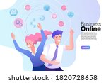 people use the internet for...   Shutterstock .eps vector #1820728658