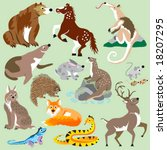 animal,anteater,appaloosa,bear,bobcat,buck,deer,fox,grizzly,hare,horse,lizard,lynx,mammal,mouse