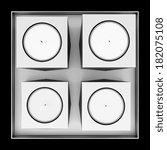 top view of four metallic... | Shutterstock . vector #182075108