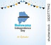botswana independence day....   Shutterstock .eps vector #1820777942