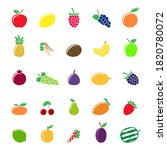 set of different fruit icons... | Shutterstock . vector #1820780072