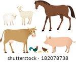 farm animals | Shutterstock .eps vector #182078738
