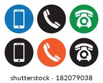 telephone icons | Shutterstock . vector #182079038