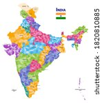 india high detailed vector map...   Shutterstock .eps vector #1820810885