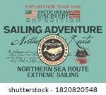 arctic north sea route... | Shutterstock .eps vector #1820820548