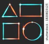 glowing frames neon turquoise... | Shutterstock .eps vector #1820823125