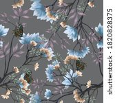 beautiful seamless floral... | Shutterstock . vector #1820828375