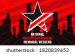 national fallen firefighters...   Shutterstock .eps vector #1820839652