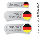 made in germany label flag set | Shutterstock .eps vector #1820843165