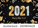happy new year banner with gold ... | Shutterstock .eps vector #1820854628