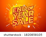 end of year sale banner. sale...   Shutterstock .eps vector #1820858105