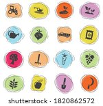 agricultural vector icons for... | Shutterstock .eps vector #1820862572