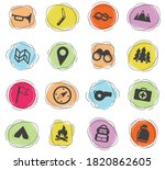 boy scout color vector icons...   Shutterstock .eps vector #1820862605