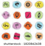 bicycle web icons for user...   Shutterstock .eps vector #1820862638