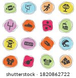 american football web icons for ... | Shutterstock .eps vector #1820862722