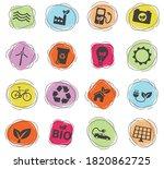 alternative energy color vector ... | Shutterstock .eps vector #1820862725