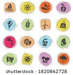 alternative energy web icons... | Shutterstock .eps vector #1820862728