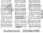 grunge texture of unreadable... | Shutterstock .eps vector #1820863988